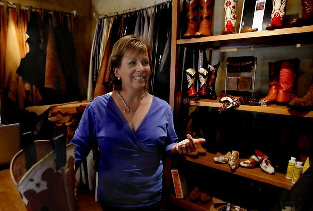 Terri Courtney makes cowboy boots in her studio in Napa, Calif. on April 24, 2012. Photo: Siana Hristova, The Chronicle