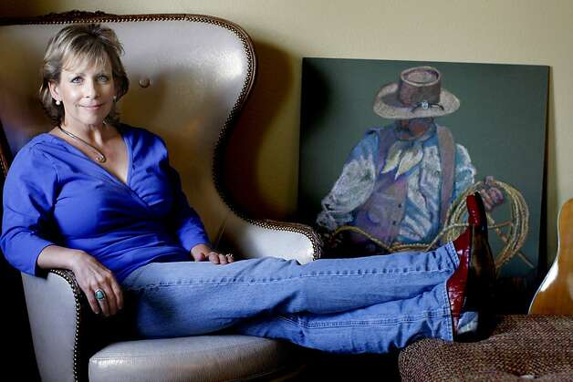 Terri Courtney poses for a picture at her studio in Napa, Calif. on April 24, 2012. Photo: Siana Hristova, The Chronicle