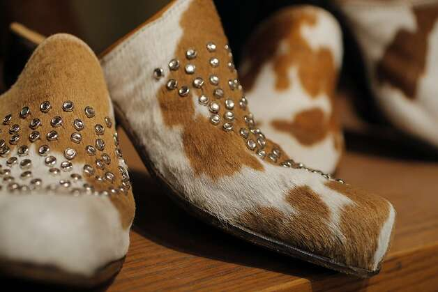 Terri Courtney makes cowboy boots in her Napa Studio in Calif. on April 24, 2012. Photo: Siana Hristova, The Chronicle