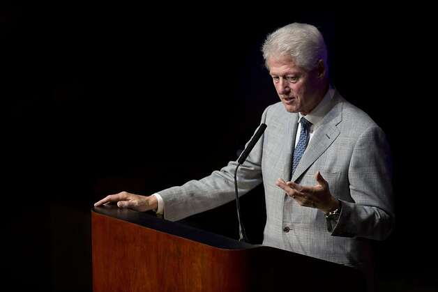 Former President Bill Clinton delivers a speech to a crowd of Silicon Valley Professionals during the Bay Area Council Outlook conference at the California Theater on Thursday, May 3, 2012 in San Jose, Calif. Photo: John Sebastian Russo, Special To The Chronicle