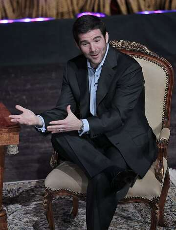 LinkedIn CEO Jeff Weiner speaks at the Bay Area Council Outlook Conference in San Jose, Calif., Thursday, May 3, 2012.  LinkedIn Corp. says its first-quarter profit more than doubled, and the business networking company is buying presentation sharing website SlideShare for $118.8 million. (AP Photo/Paul Sakuma) Photo: Paul Sakuma, Associated Press
