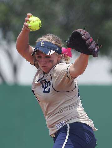 O'Connor pitcher Kenedy Urbany winds up a pitch against Judson in the second round of Class 5A softball playoffs on Saturday, May 5, 2012. O'Connor took the series by winning the first game on Friday and then again on Saturday with a 10-3 win over Judson. Photo: KIN MAN HUI, Kin Man Hui/Express-News / ©2012 San Antonio Express-News
