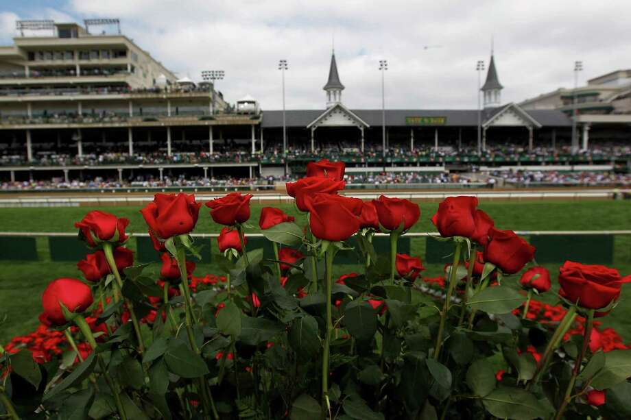 Roses are seen from the winner's circle prior to the the 138th running of the Kentucky Derby at Churchill Downs on May 5, 2012 in Louisville, Kentucky. Photo: Jamie Squire, Getty Images / 2012 Getty Images