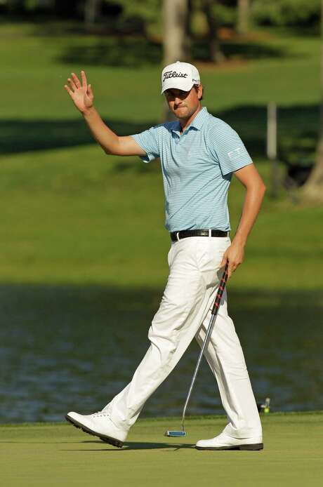 Webb Simpson leads the pack heading into the final round of the Wells Fargo Championship. Photo: AP