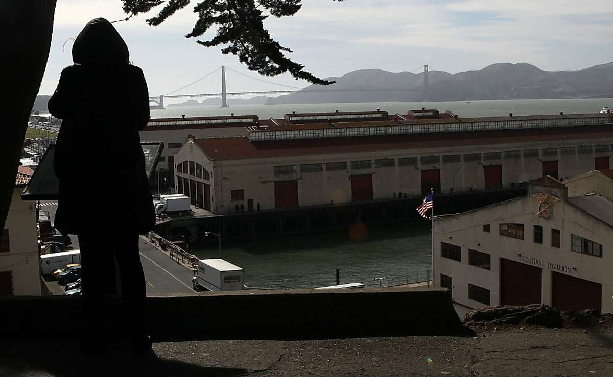 A view of Fort Mason piers in San Francisco, Calif., looking towards Golden Gate bridge on Wednesday, May 2, 2012.