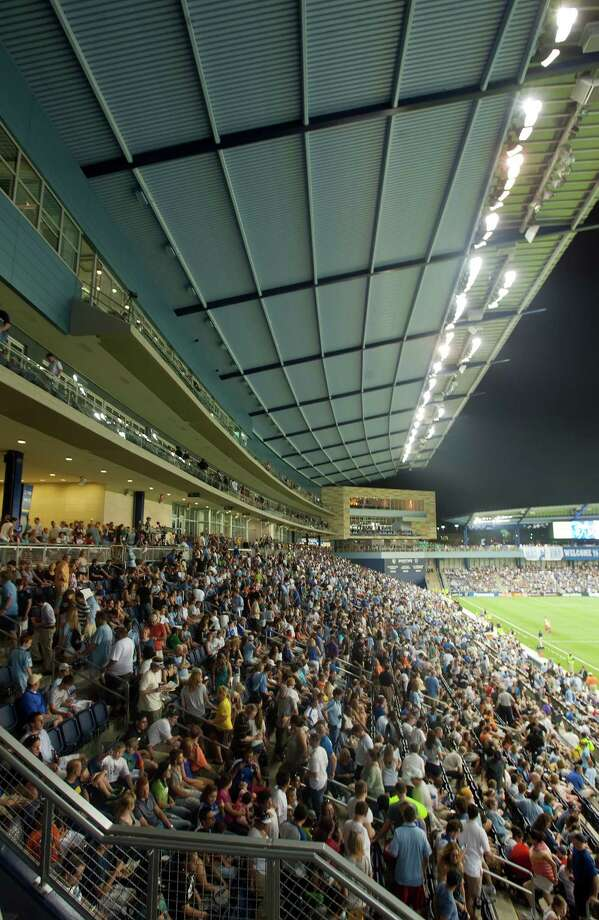 A capacity crowd filled Livestrong Sporting Park in Kansas City, Kan., for Sporting Kansas City's inaugural home game on June 9, 2011. / buy