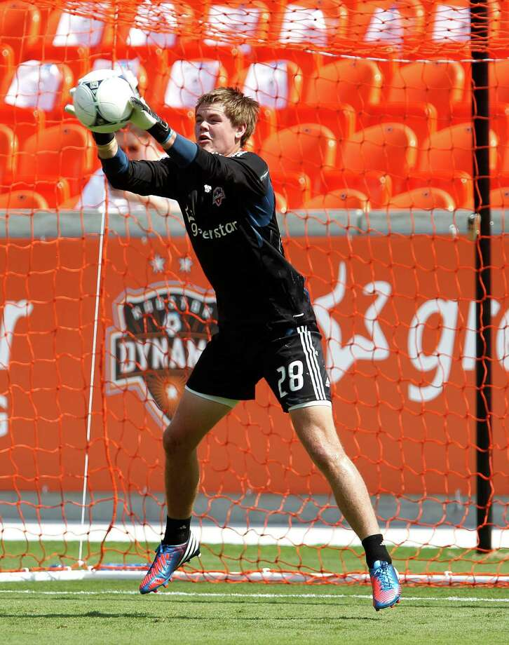 Houston Dynamo goalkeeper Erich Marscheider during the Houston Dynamo soccer team practice at BBVA Compass Stadium Saturday, May 5, 2012, in Houston. Photo: James Nielsen, Chronicle / © Houston Chronicle 2012