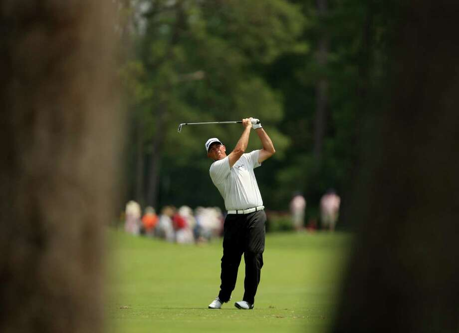Tom Lehman follows his approach shot on No. 7 during the second round of the Insperity Championship, Saturday, May 5, 2012 at the Tournament Course in The Woodlands, TX. Photo: Eric Christian Smith, For The Chronicle