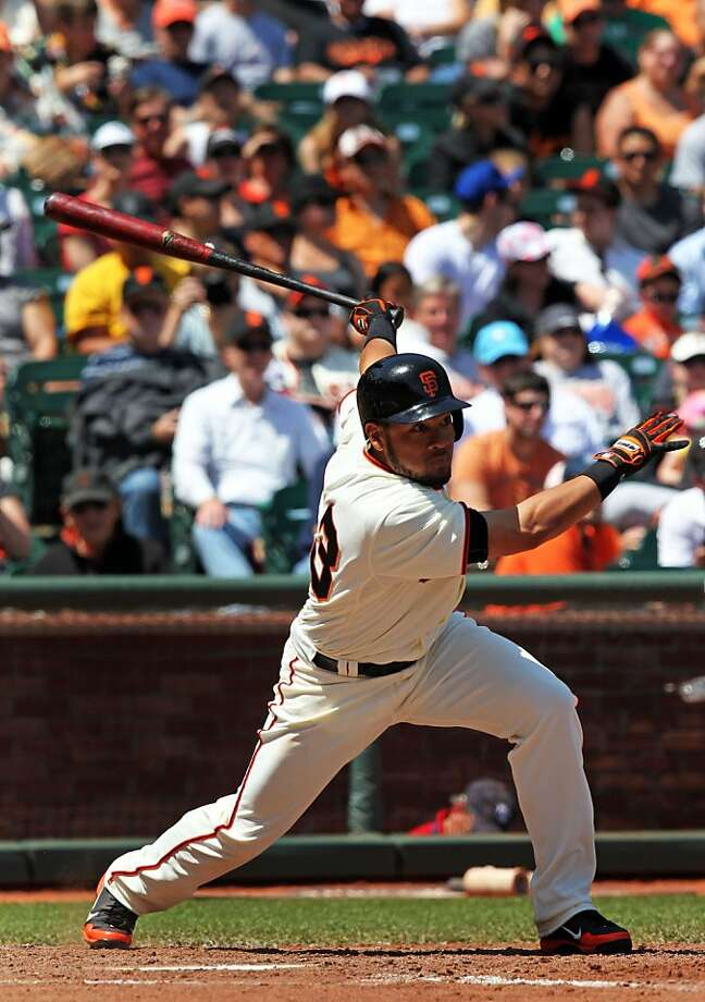 Melky Cabrera has four consecutive multihit games and tripled  Saturday. Photo: Lance Iversen, The Chronicle