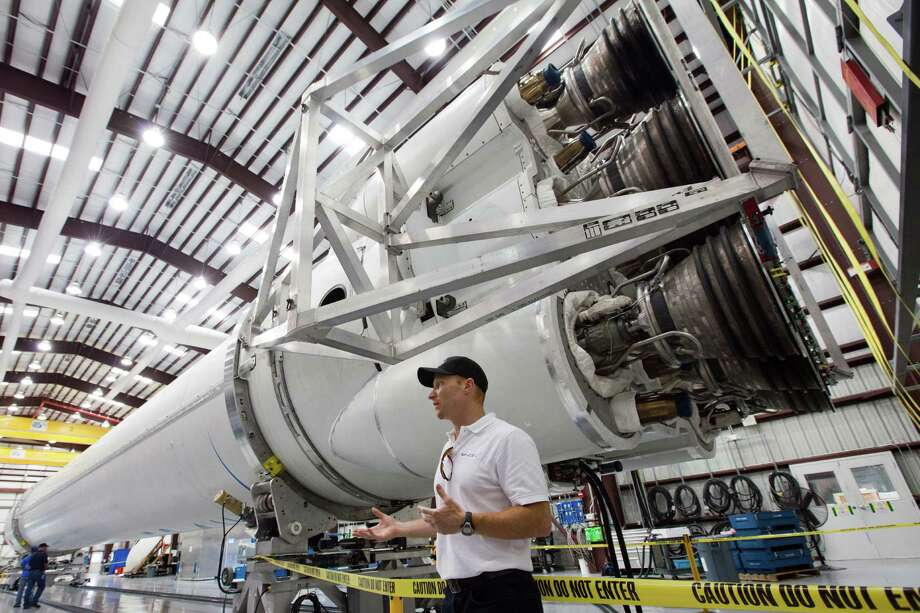 The Falcon 9 rocket is the workhorse of SpaceX, having been launched successfully 13 times. It and its larger cousin will be busy in coming years if the company's amibitous plans come to fruition. Photo: Smiley N. Pool, Staff / © 2011  Houston Chronicle