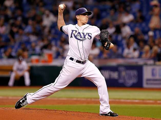 Pitcher Jeremy Hellickson #58 of the Tampa Bay Rays pitches against the Oakland Athletics during the game at Tropicana Field on May 5, 2012 in St. Petersburg, Florida. Photo: J. Meric, Getty Images