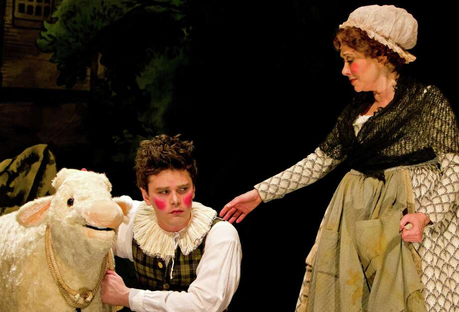 "Justin Scott Brown plays Jack and Cheryl Stern plays his mother in the Westport Country Playhouse production of ""Into the Woods,"" which continues through May 26. Contributed photo/Richard Anderson. Photo: Contributed Photo / Westport News contributed"
