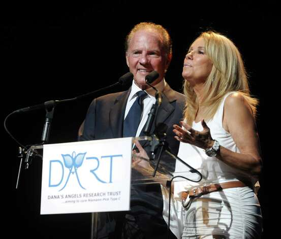 Kathie Lee and Frank Gifford speak during a benefit for Dana's Angels Research Trust (DART) at the Palace Theatre on Saturday, May 5, 2012. Photo: Lindsay Niegelberg / Stamford Advocate