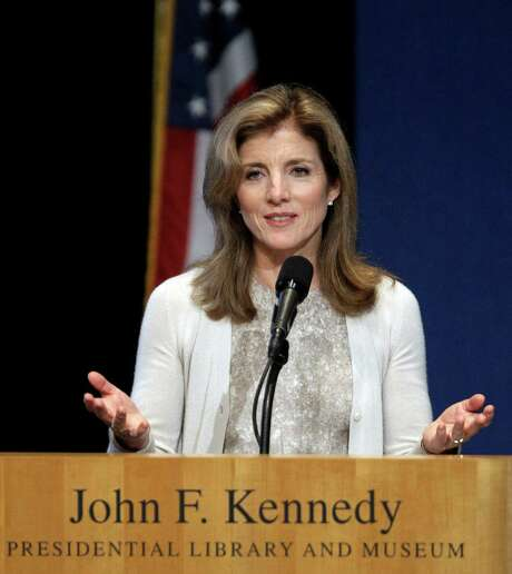FILE - In this May 23, 2011 file photo, Caroline Kennedy addresses the John F. Kennedy Profiles in Courage Award ceremony at the John F. Kennedy Library & Museum in Boston. She is scheduled to present this year's awards during the annual ceremony on Monday, May 7, 2012.  (AP Photo/Stephan Savoia, File) Photo: Stephan Savoia / AP2011