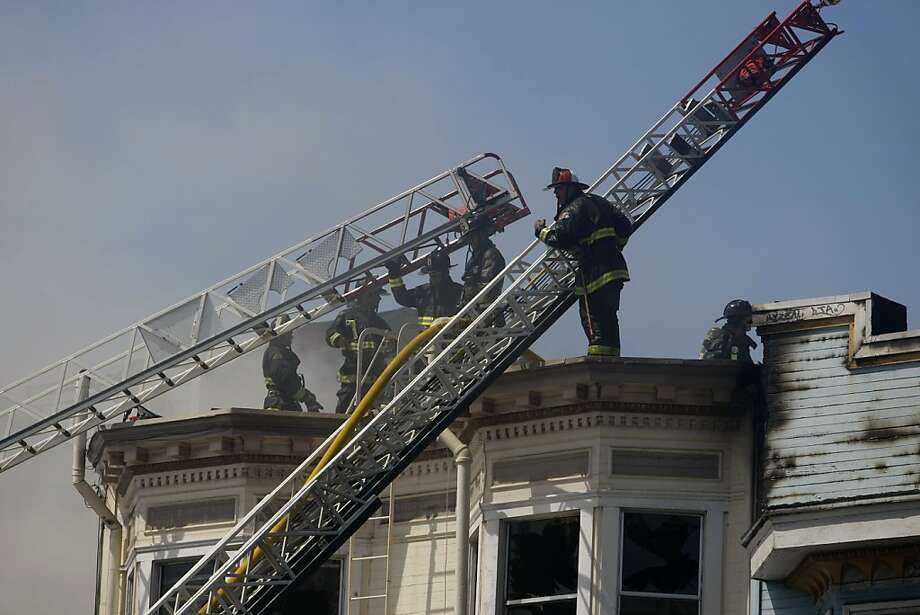 A four alarm fire took place at a house on Valencia on Sunday, May 6, 2012. Photo: Sean Culligan, The Chronicle
