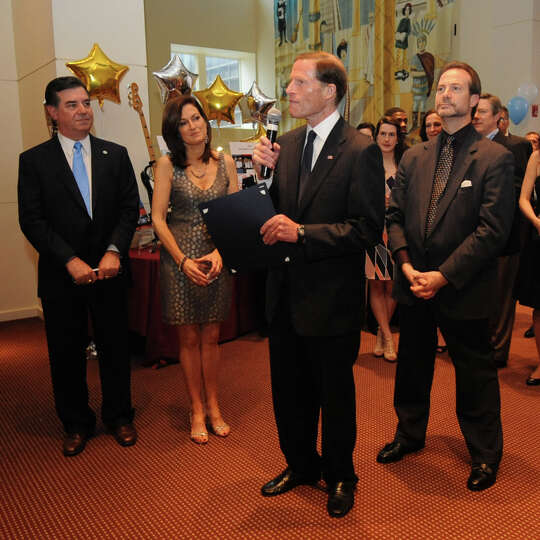 United States Senator Richard Blumenthal speaks during a benefit for Dana's Angels Research Trust (D