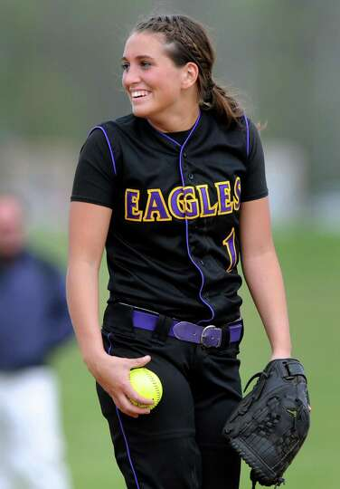Duanesburg's pitcher Dani Hennel on the mound during their softball game against Bethlehem on Thursd