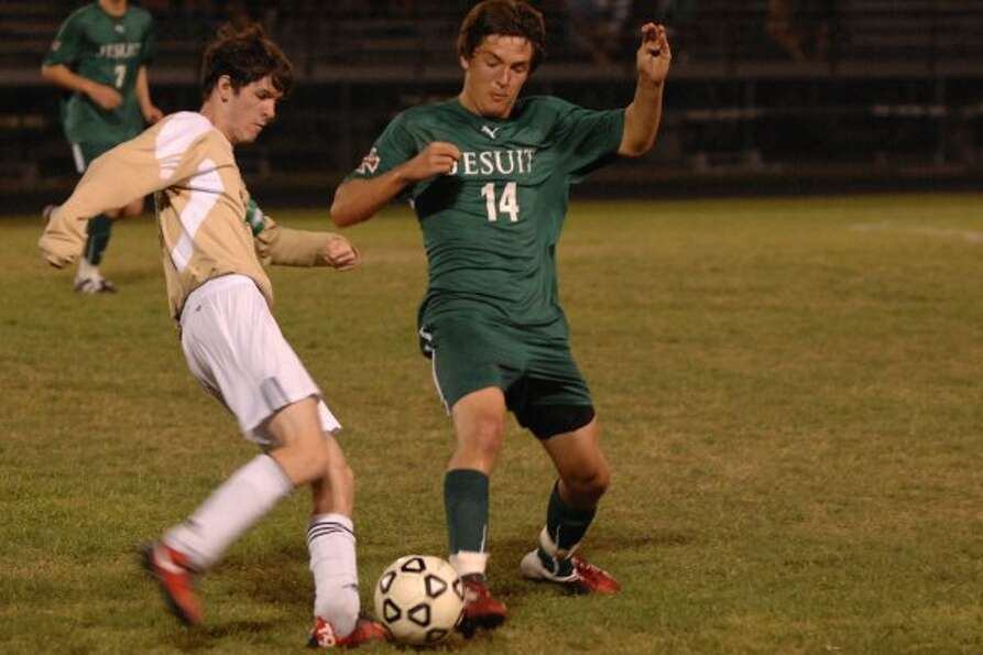 Kyle Ruck (14), F, Sr., Strake Jesuit Boys second team not pictured: Seth Mabe, GK, Sr