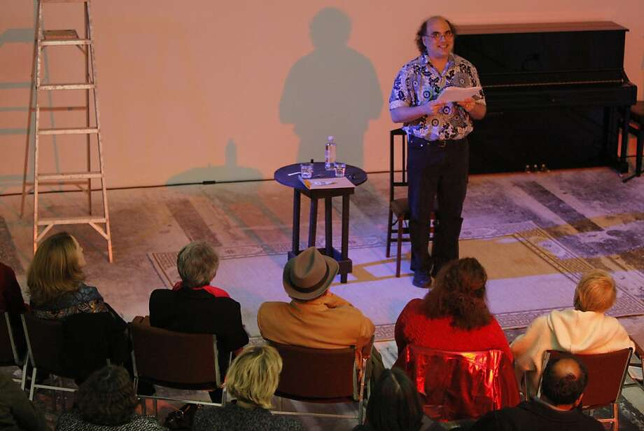 "Monologist Josh Kornbluth performs a Bay Area debut of  "" White Rabbit, Red Rabbit"" a play by Iranian writer Nassim Soleimanpour in San Francisco, Calif. on May 4, 2012. The play requires no set, director, or rehearsal, but a different actor, who never prepares or reads the script. Photo: Siana Hristova, The Chronicle"
