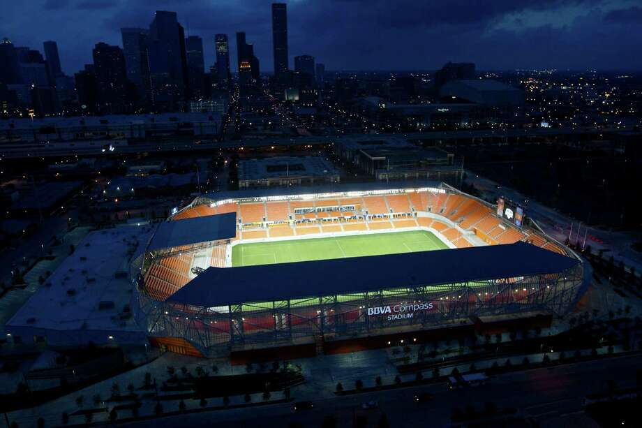 Dynamo stadium Aerial photos Sunday, April 29, 2012, in Houston. Photo: James Nielsen, Chronicle / © 2012 Houston Chronicle