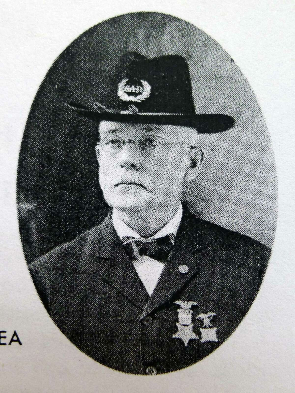 Photograph of Thomas O'Dea, an ireland native who fought in the Civil War and was a POW in the Confederate's notorious Andersonville Prison in Georgia. He survived and moved to Cohoes, and created a huge artwork of the prison and its atrocious conditions. (Photo Courtesy of Paul K Perreault)