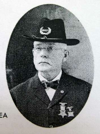 Photograph of Thomas O'Dea, an ireland native who fought in the Civil War and was a POW in the Confederate's notorious Andersonville Prison in Georgia. He survived and moved to Cohoes, and created a huge artwork of the prison and its atrocious conditions. (Photo Courtesy of  Paul K Perreault) Photo: Michael P. Farrell / 00017542A