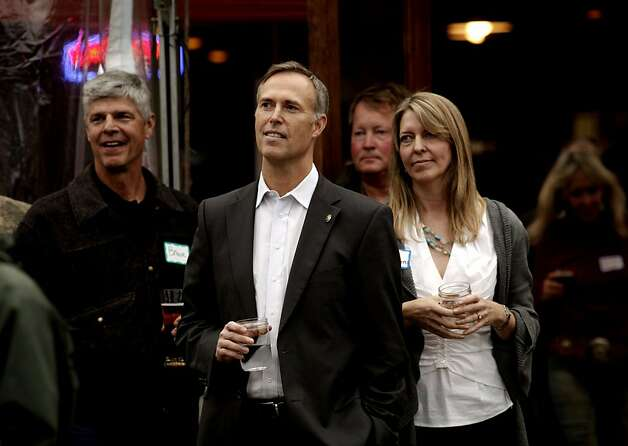 Assemblyman Jared Huffman and his wife Susan listen as supporters speak during a fundraiser for his U.S. Congressional campaign on Tuesday March 27, 2012, in Petaluma, Ca. Assemblyman Huffman is running for the open 2nd Congressional district seat that will be vacated by the retiring Lynn Woolsey. Photo: Michael Macor, The Chronicle