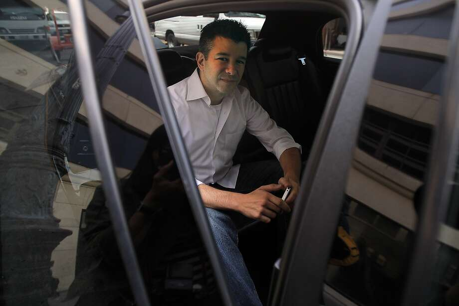 CEO of Uber Travis Kalanick in one of the car Uber service uses to drive customers in San Francisco, Calif. on May 1, 2012. Photo: Siana Hristova, The Chronicle