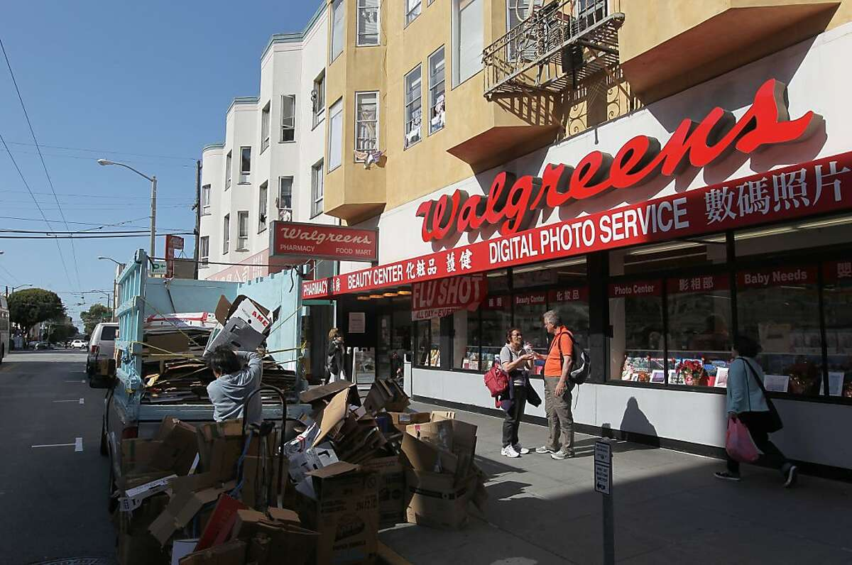 One of the 68 Walgreens in San Francisco is at 1344 Stockton St. on the edge of North beach in Chinatown.