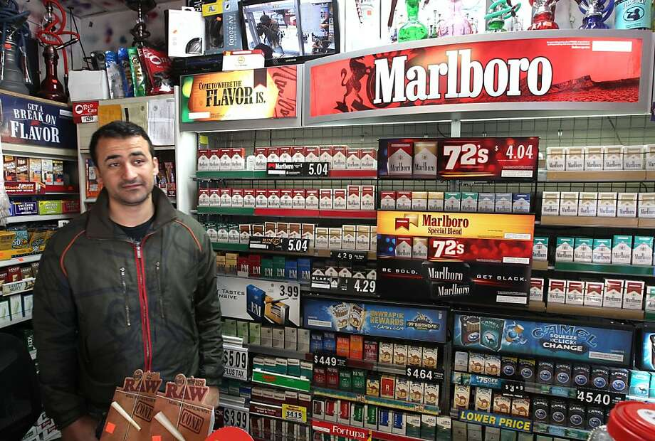 "Mohammed Malikzad, owner of ""Cigarettes for Less"", in Hayward, Ca. on Friday May 4, 2012, said that if Prop 29 passes that he believes it will kill his business. California voters are voting soon on whether to increase the tobacco tax with an increase a $1-a-pack that would fund research on cancer and other tobacco related illnesses. Photo: Michael Macor, The Chronicle"
