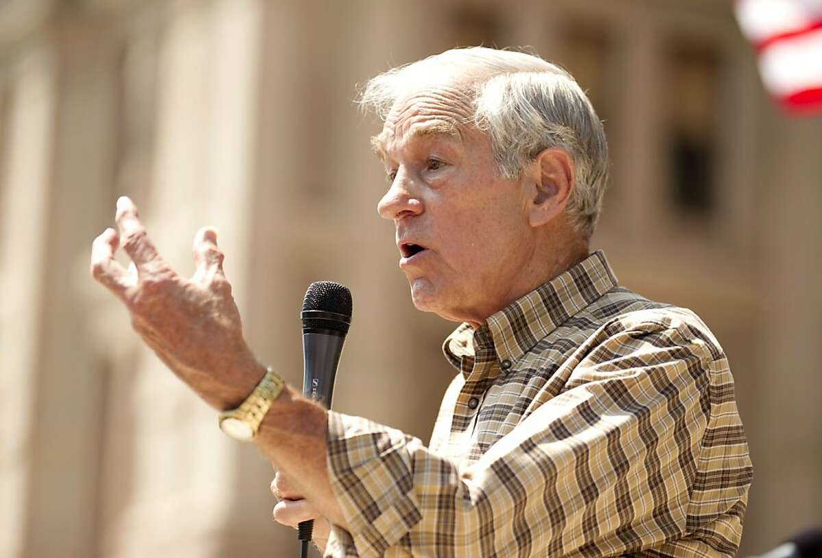U.S. Rep. Ron Paul speaks at The Tea Party Express rally at the Capitol in Austin, Texas, Sunday, May 6, 2012. (Jay Janner/Austin American-Statesman/MCT)