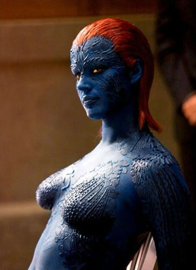 "Rebecca Romijn-Stamos was the shape-shifting Mystique in the original ""X-Men"" film. Just imagine how long it took to put on and take off that outfit and makeup every day."