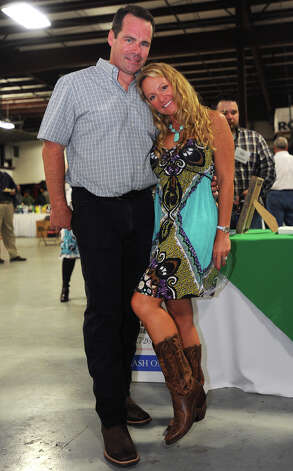 Dave Morrow and Katherine Morrow at the Cattle Barron's Ball on Saturday.  Photo taken Saturday, May 5, 2012 Guiseppe Barranco/The Enterprise Photo: Guiseppe Barranco, STAFF PHOTOGRAPHER / The Beaumont Enterprise