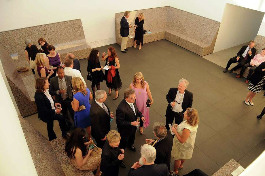 Guest mingle at the cocktail reception before a preview of the new James Turrell Skyspace at Rice University Friday May 4,2012. (Dave Rossman Photo) Photo: Dave Rossman, For The Chronicle / © 2012 Dave Rossman
