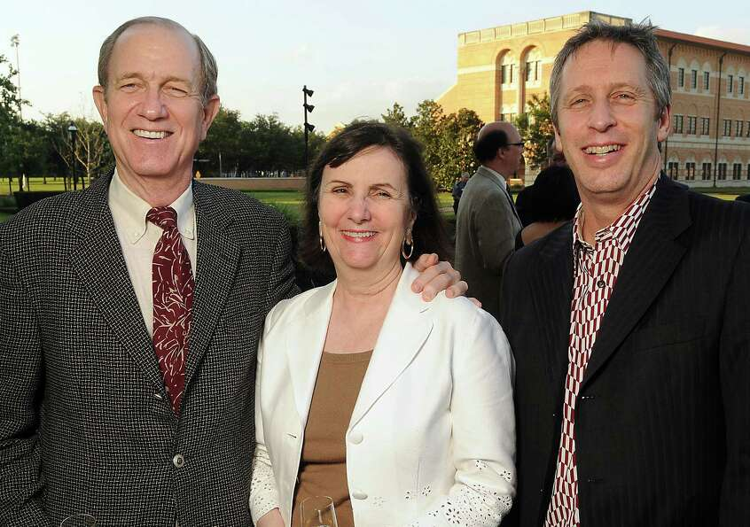 From left: Brad and Leslie Bucher with Ron Witte at the cocktail reception before a preview of the n