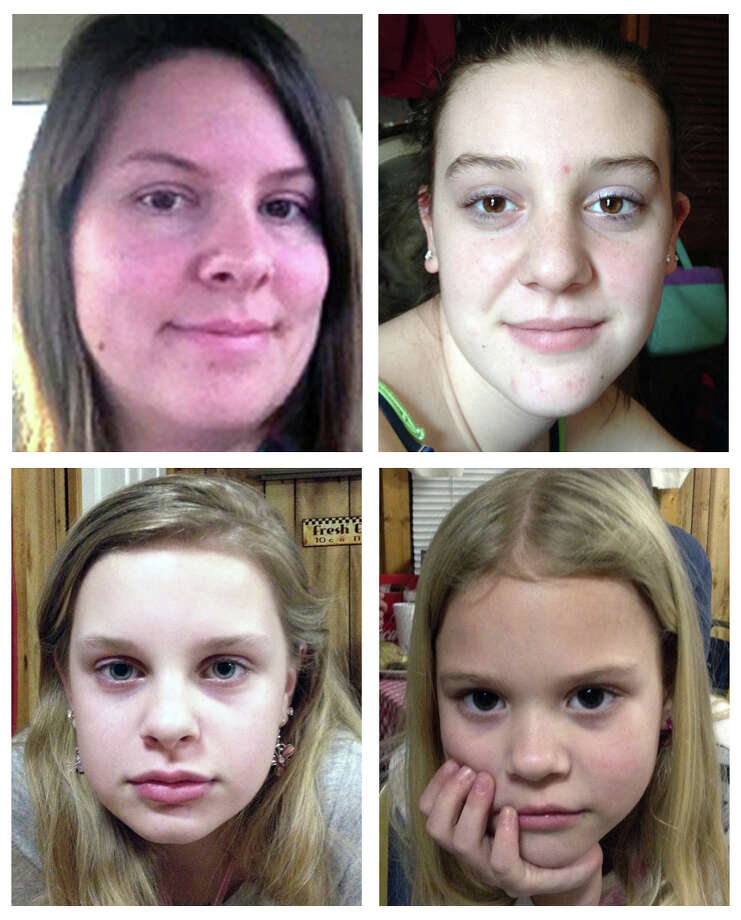 "This combo image made of undated photos provided by the Mississippi Department of Public Safety shows, clockwise from top left, Jo Ann Bain and her daughters, Adrienne, 14, Kyliyah 8, and Alexandria,12. Bain and her daughters may be in ""extreme danger"" after they were abducted in Tennessee and last seen in Mississippi, but they could be in another state where their suspected kidnapper has connections, authorities said Saturday, May 5, 2012. The Mississippi Highway Patrol issued an Amber Alert on Saturday morning, and Tennessee authorities also have issued an alert.  (AP Photo/Mississippi Department of Public Safety) Photo: Uncredited, HOPD"