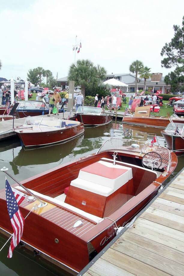 May 6-7, 2017: Keels & Wheels at Seabrook's Lakewood Yacht Club features expensive cars and wooden boats. Photo: Pin Lim, For The Chronicle / Copyright Pin Lim.