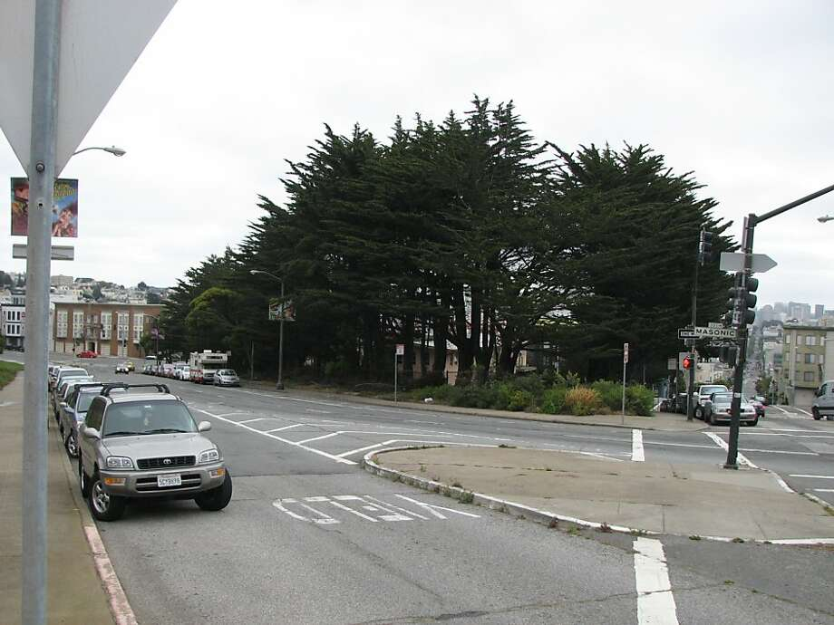 A file photograph of Masonic Ave. and Euclid Ave. in San Francisco. Photo: Jonathan Curiel, The Chronicle