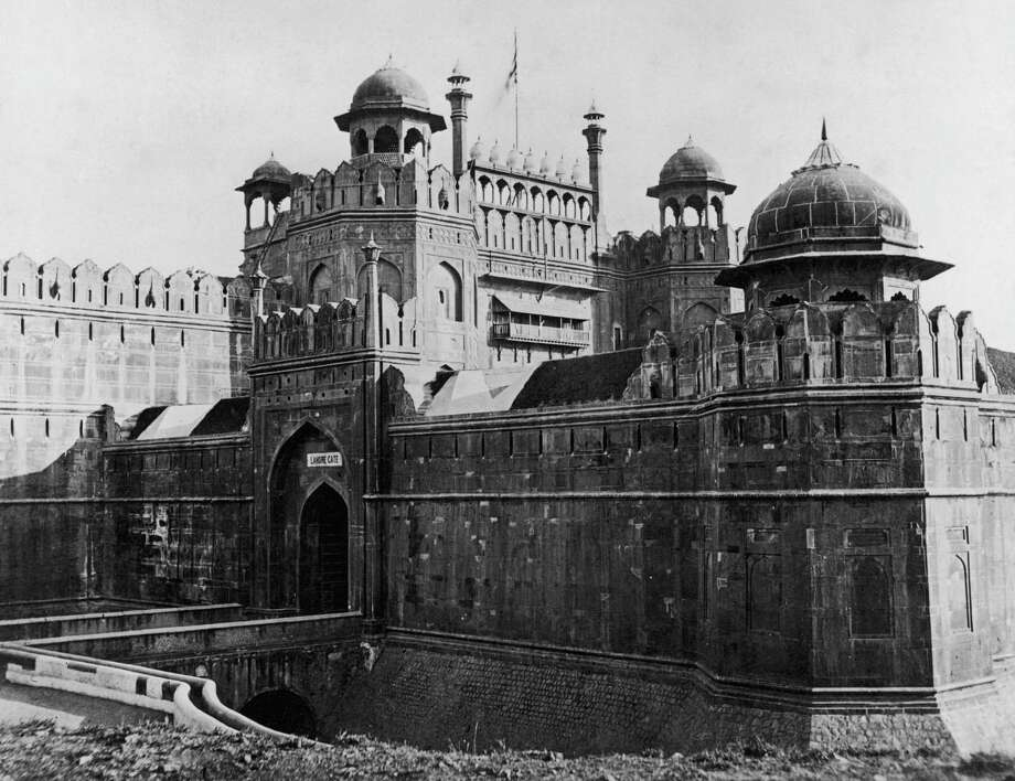 The Lal Quila or Red Fort on the banks of Jamuna, in Delhi, India, circa 1900. The fort was built by the Mughal Emperor Shahjahan between 1638 and 1648. Photo: Henry Guttmann, Getty Images / 2005 Getty Images