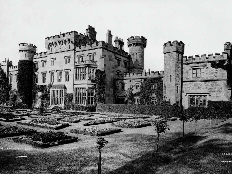 Hawarden Castle in Flintshire, North Wales, circa 1890.  It was home of British Prime Minister William Ewart Gladstone (1809-1898). Photo: London Stereoscopic Company, Getty Images / Hulton Archive