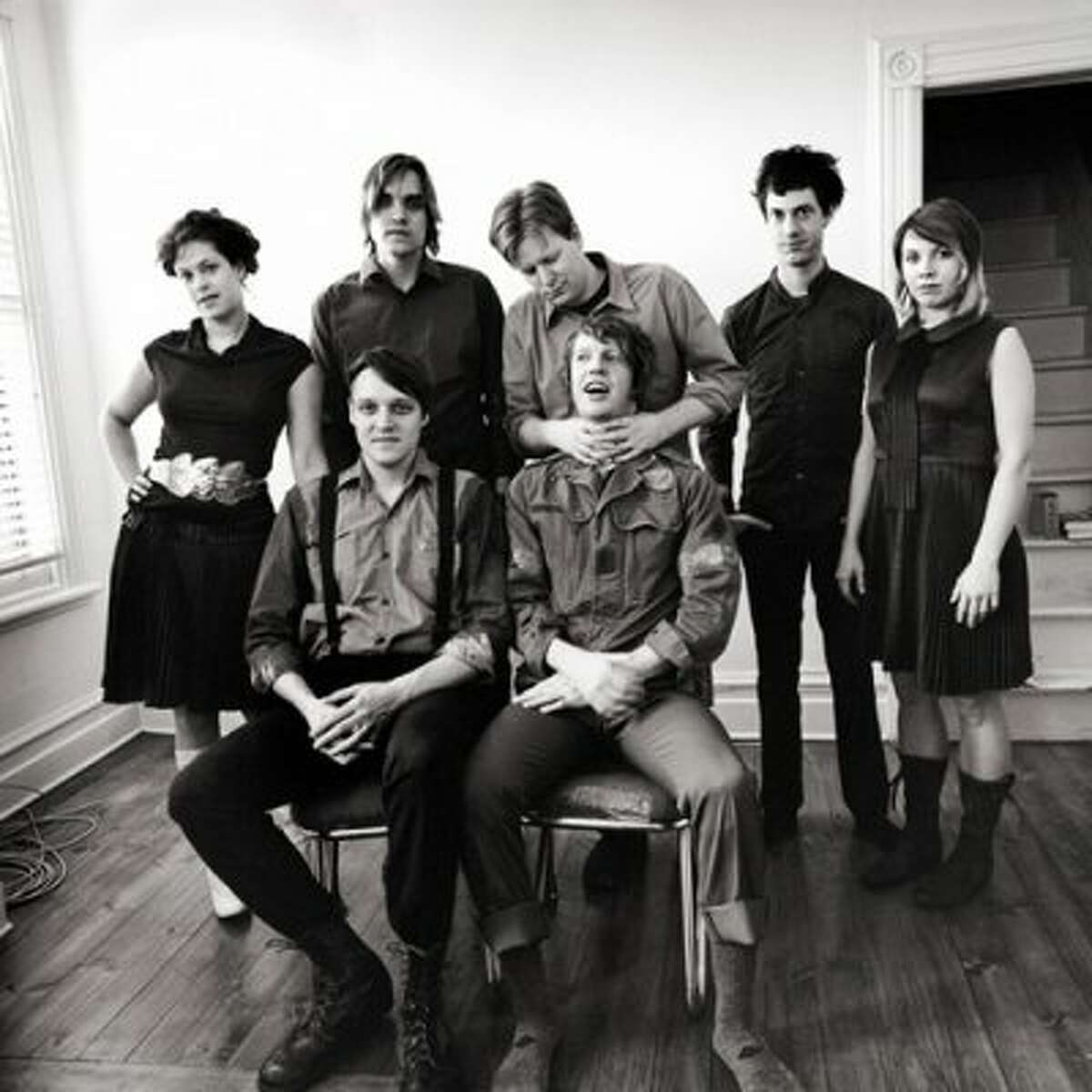 The Arcade Fire played Mary Jane's Fat Cat early in the band's touring career, back in February 2005. Over half a decade later they would headline the Cynthia Woods Mitchell Pavilion. (Merge)
