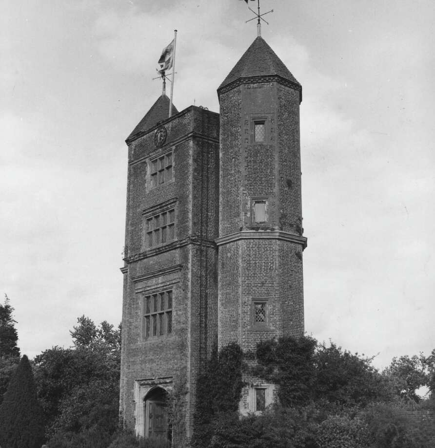 It's not quite a castle, but we couldn't resist throwing in t his unusual former home of Sir Harold and Lady Nicolson, which now belongs to the National Trust at Sissinghurst, Kent, U.K. The picture is from August 1970. Photo: L. V. Clark, Getty Images / Hulton Archive