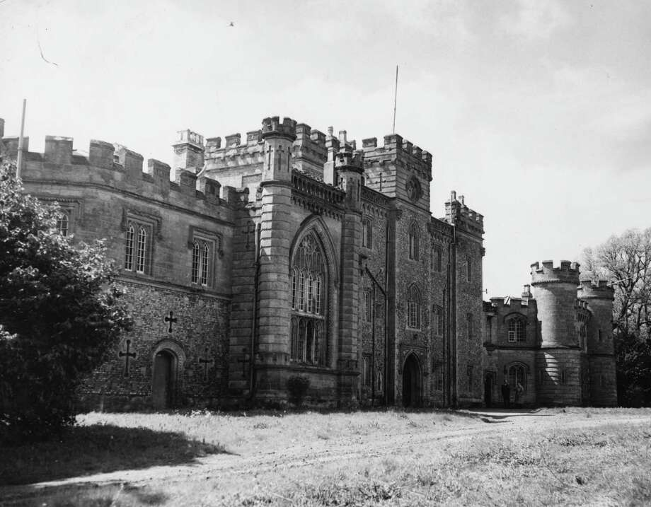 Goring Castle, near Worthing, Sussex, U.K., is shown on May 24, 1956. Originally built for the poet Shelley, the College of Authors and Authors' Country Club now use it for training and recreation. Photo: Harry Todd, Getty Images / Hulton Archive
