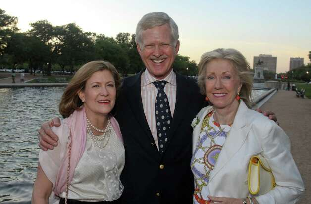Linda and Barry Hunsaker, from left, with Catherine Clark Mosbacher. Photo: Gary Fountain / Copyright 2012 Gary Fountain.