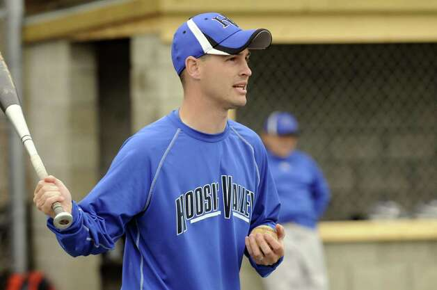 Hoosic Valley High School boy's baseball coach George Brooks during a recent practice in Schaghticoke N.Y. Tuesday May 1, 2012. (Michael P. Farrell/Times Union) Photo: Michael P. Farrell