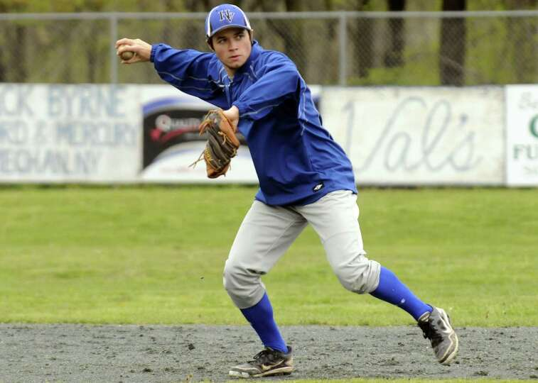 Hoosic Valley High School boy's baseball player Joe Rooney during a recent practice in Schaghticoke