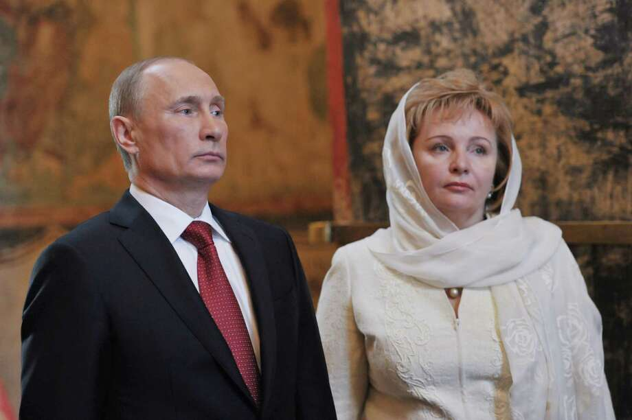 Russian President Vladimir Putin and his wife Lyudmila attend a service in the Annunciation Cathedral after his inauguration in the Kremlin in Moscow, Monday, May 7, 2012. Vladimir Putin has been sworn in as Russia's president for a third term after four years as prime minister. (AP Photo/RIA-Novosti, Alexei Nikolsky, Government Press Service) Photo: Alexei Nikolsky / RIA Novosti Russian Government