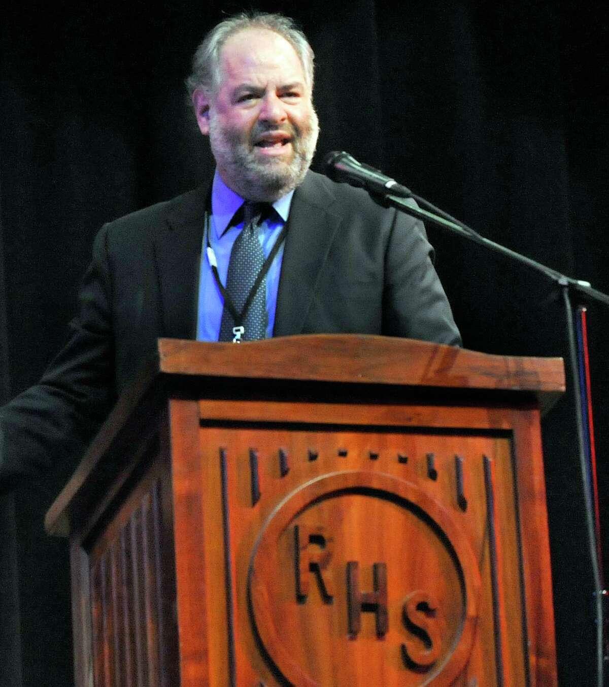 Principal Jeffrey Jaslow at Ridgefield High School Monday, Dec. 19, 2011.