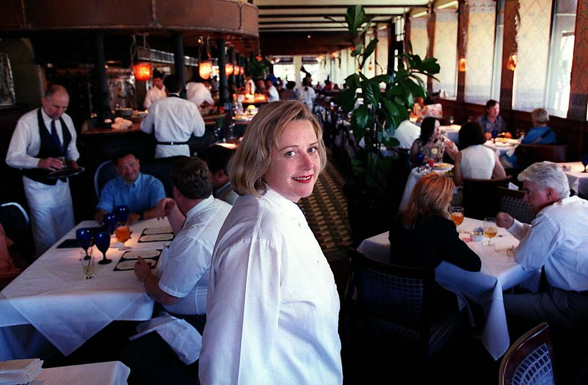 Nancy Oakes (center) is the chef/owner of Boulevard restaurant at the foot of Mission Street.