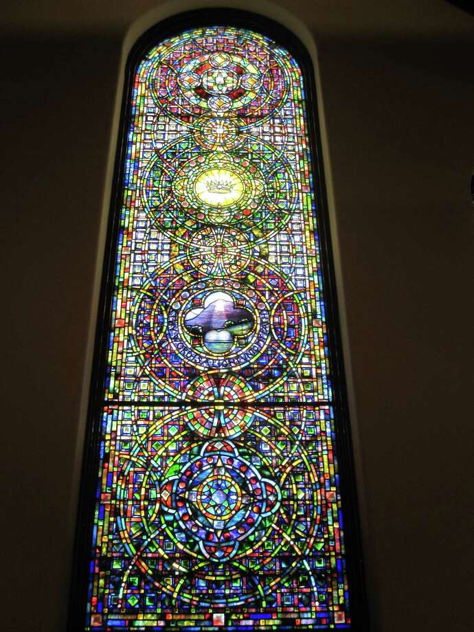 One of the soaring Tiffany windows in Fairfield's First Church give it a New York City connection. Photo: Contributed Photo, Ron Blumrnfeld/Contributed Photo / Fairfield Citizen contributed